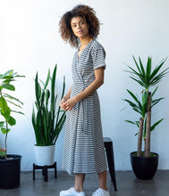 Load image into Gallery viewer, Briar Wrap Dress - Stripe