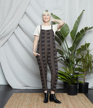 Load image into Gallery viewer, Cadence Organic Cotton Overall - Black/Oatmeal Print