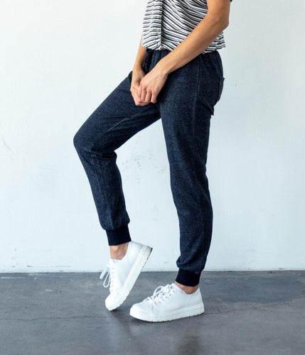Fair Trade Organic Cotton Jogger Pant - Black French Terry