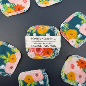 Marley's Monsters Facial Rounds - Floral