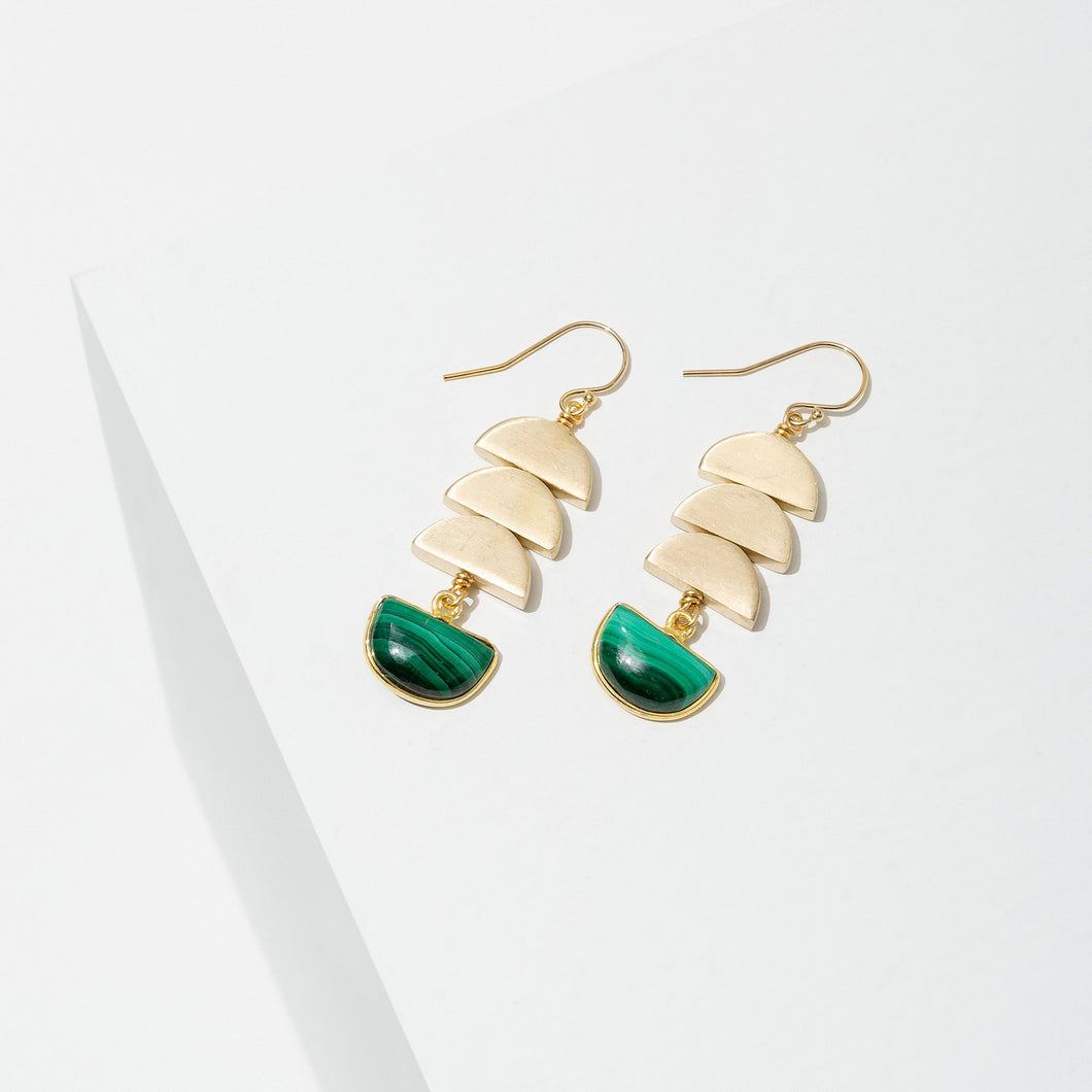 Larissa Loden Vera Malachite Crystal Earrings