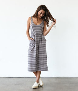 Finch Dress - Indigo/Grey