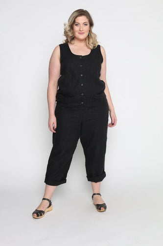 Conscious Clothing Surplus Jumpsuit - Black Linen