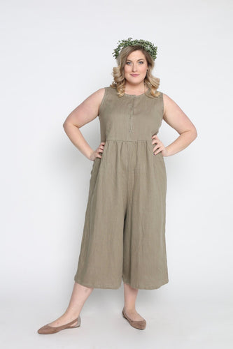 Conscious Clothing Backyard Jumpsuit - Sage Linen