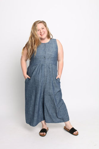 Conscious Clothing Backyard Jumpsuit - Indigo Chambray