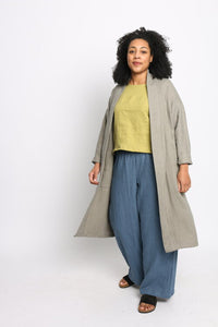 Conscious Clothing Sunset Linen Wide Leg Pant - Cornflower