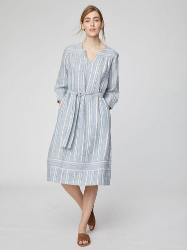 Luis Striped Midi Dress