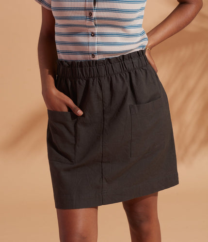 Mica Woven Organic Cotton Skirt - Known Supply