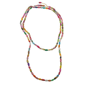 Beaded Kantha Kai Necklace- WorldFinds