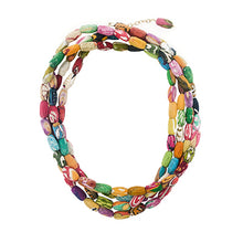 Load image into Gallery viewer, Beaded Kantha Kai Necklace- WorldFinds