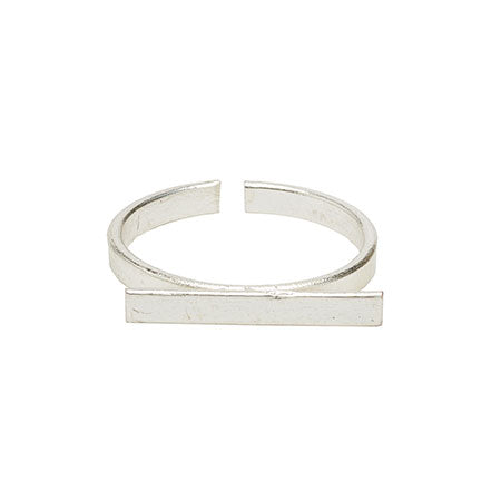 Horizontal Bar Ring - Silver