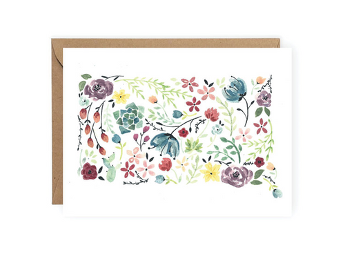 Floral South Dakota Greeting Card