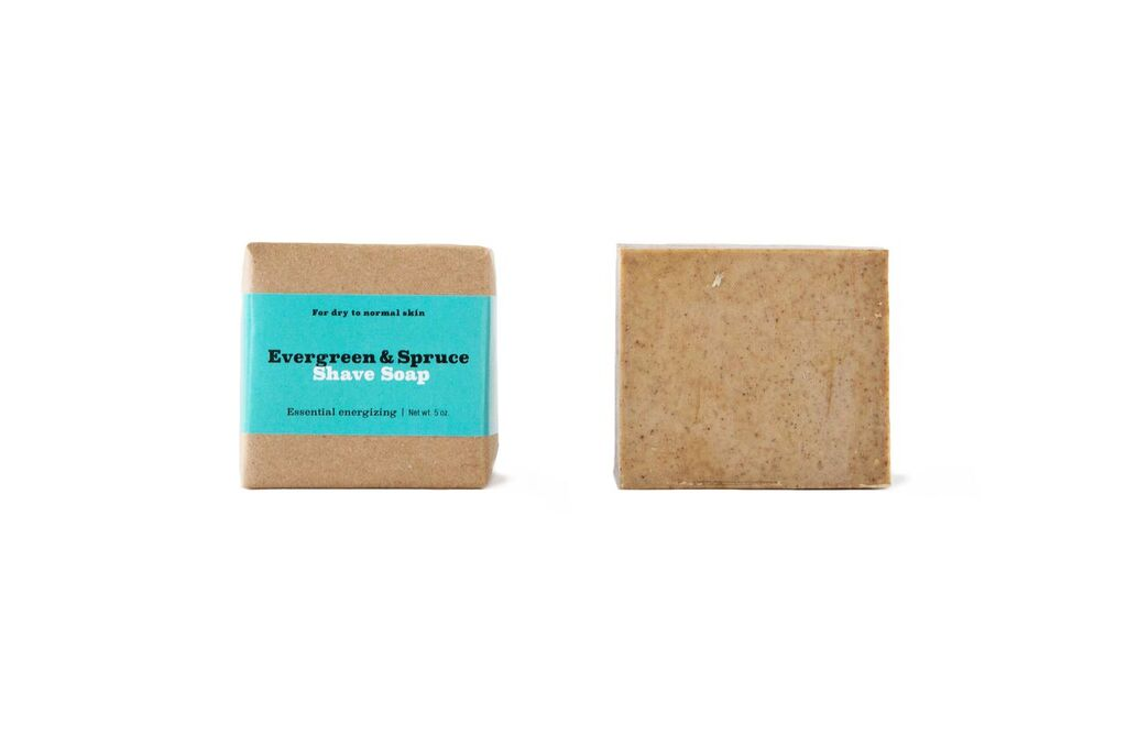 Evergreen + Spruce Shave Soap