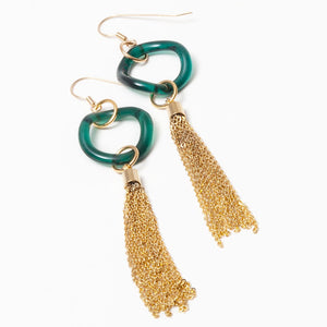 Metal Tassel Earrings