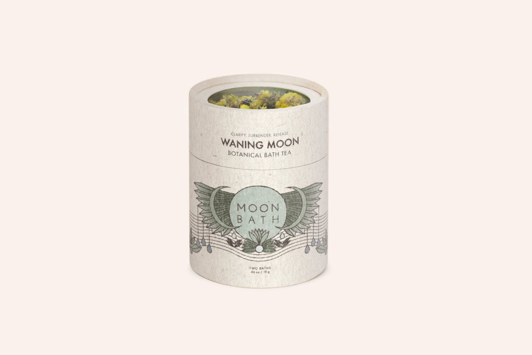 Moon Bath Lunar Cycle Waning Moon Botanical Bath Tea