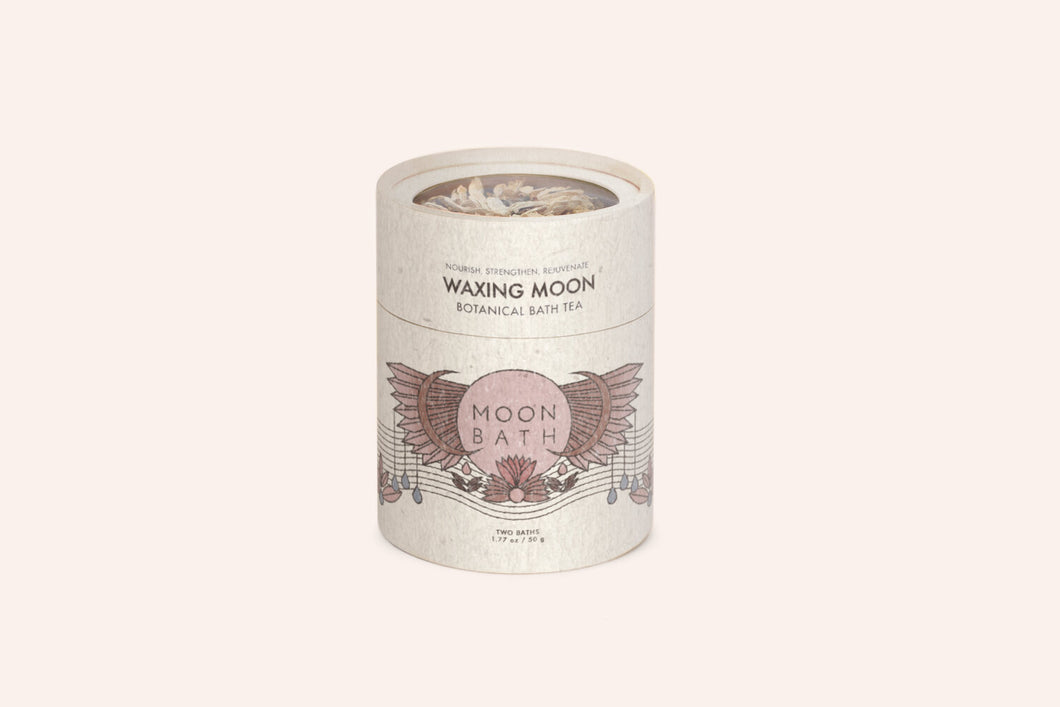 Moon Bath Lunar Cycle Waxing Moon Botanical Bath Tea