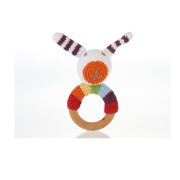 Rainbow Bunny Teether Rattle