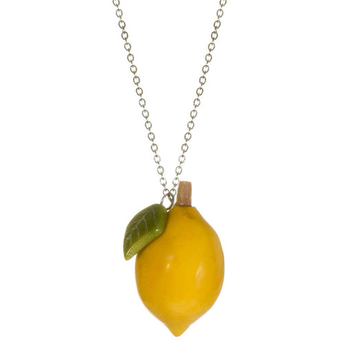 Lemon Pendant Necklace Tagua Nut - WorldFinds + Just Trade