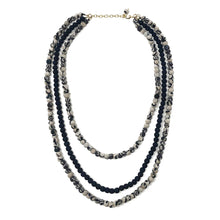 Load image into Gallery viewer, Kantha Indigo Layered Necklace