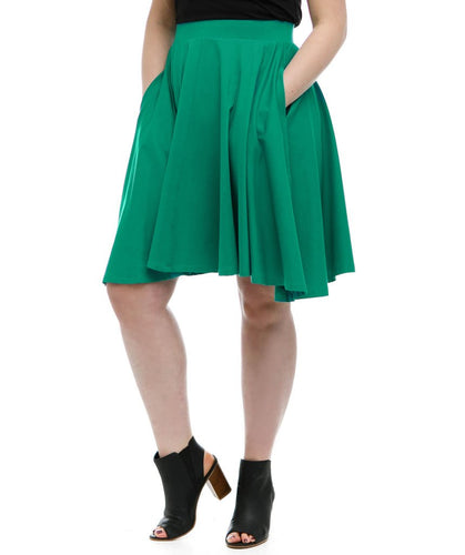 Audrey Circle Skirt in Jade Julep