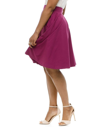 Audrey Circle Skirt - Boysenberry