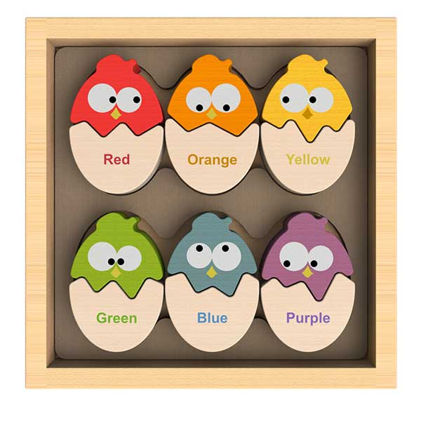 Colors N Eggs Bilingual Matching Puzzle Age 2+ - BeginAgain