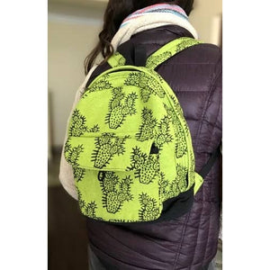 Block Print Cotton Backpack