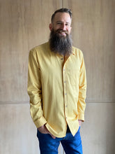 Load image into Gallery viewer, Fair Shirt Project Men's Twill Long Sleeve Button-Up Shirt - Banana Pepper Yellow