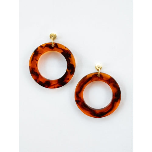 Abilene Tortoiseshell Earrings - Mata Traders