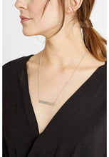 Load image into Gallery viewer, Beaten Bar Necklace - Silver