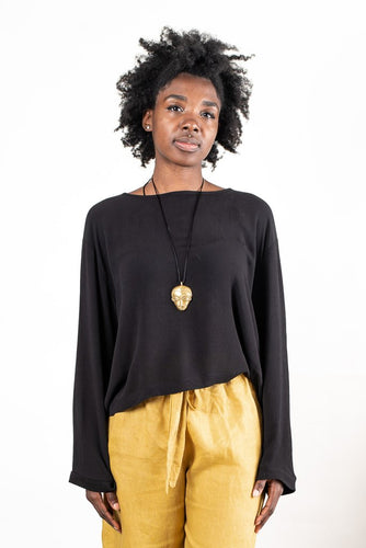 Relaxed Basic Top - Black