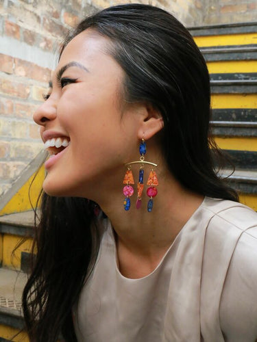 Fair Anita Brass Recycled Earrings - Made in India