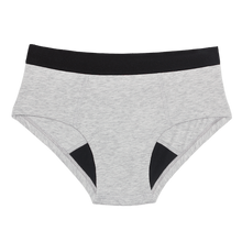 Load image into Gallery viewer, Thinx Cotton Brief Period Panties - Grey