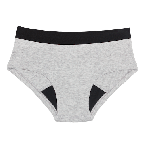 Thinx Cotton Brief Period Panties - Grey