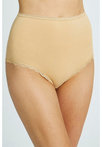 High Waist Briefs - Almond