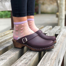 Load image into Gallery viewer, Classic Clogs with Strap - Aubergine