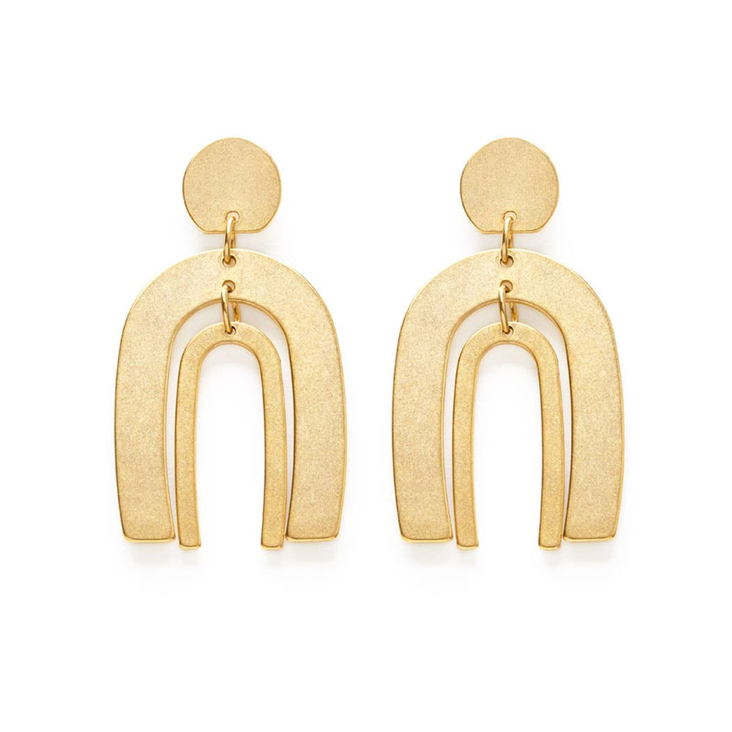 Amano Studio Arches Matte Gold Stud Earrings