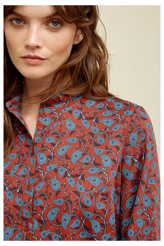 Fair Trade Tencel Print Blouse