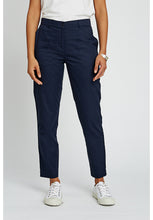 Load image into Gallery viewer, Organic Cotton Navy Ankle Length Pants - Fair Trade