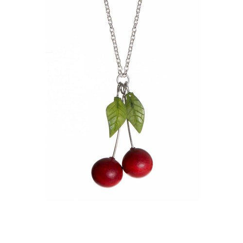 Cherry Pendant Necklace Tagua Nut - WorldFinds + Just Trade