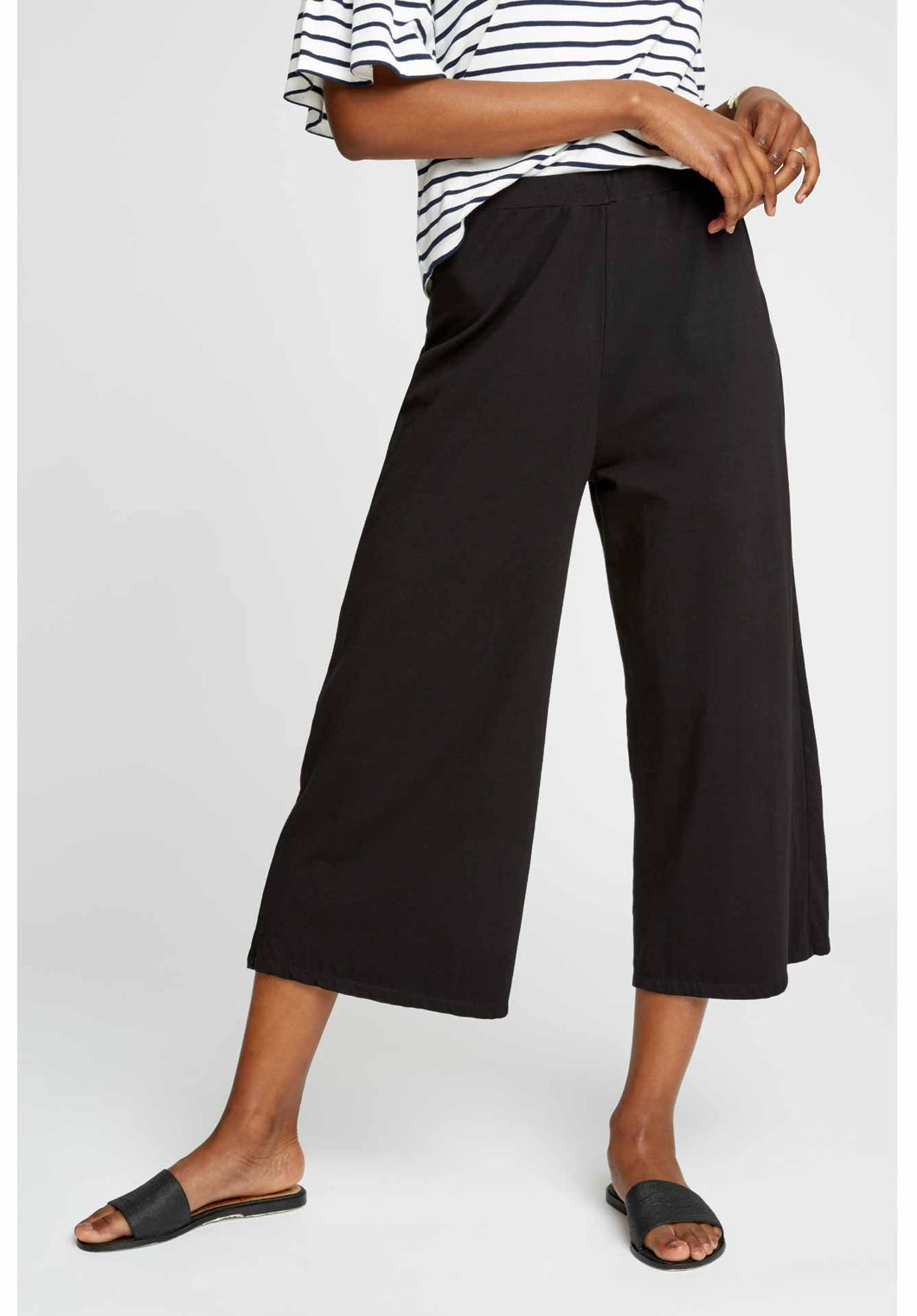 People Tree Organic Cotton Chandre Trousers - Black