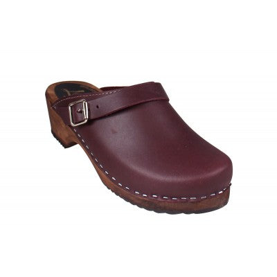 Lotta from Stockholm Classic Clogs with Strap - Aubergine