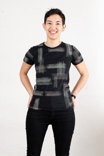 Crosshatch T-Shirt - Black