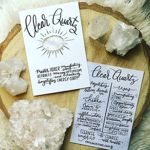 Clear Quartz Crystal Card