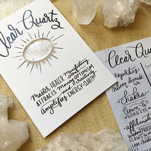 Load image into Gallery viewer, Clear Quartz Crystal Card