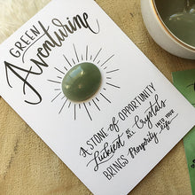 Load image into Gallery viewer, Green Aventurine Crystal Card