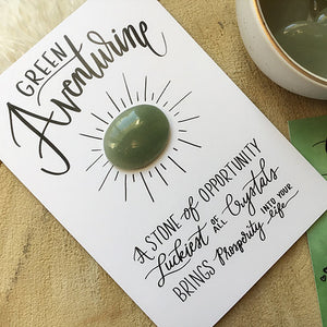 Green Aventurine Crystal Card