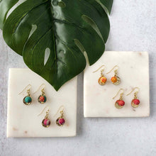 Load image into Gallery viewer, WorldFinds Kantha Camille Everyday Earrings - Handmade Fair Trade