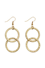 Load image into Gallery viewer, Double Circle Earrings - Brass
