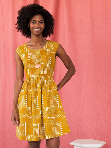 Fair Trade Chilmark Cotton Dress - Gold